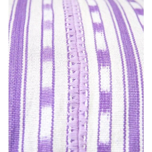 Lilac Purple Ikat Guatemalan Pillow - Image 2 of 7