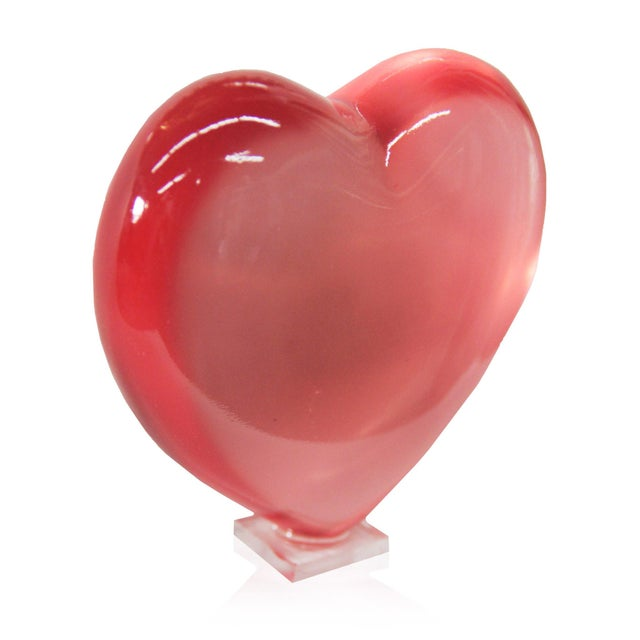 Image of Carved Heart Statue Decorative Object & Paper Weight