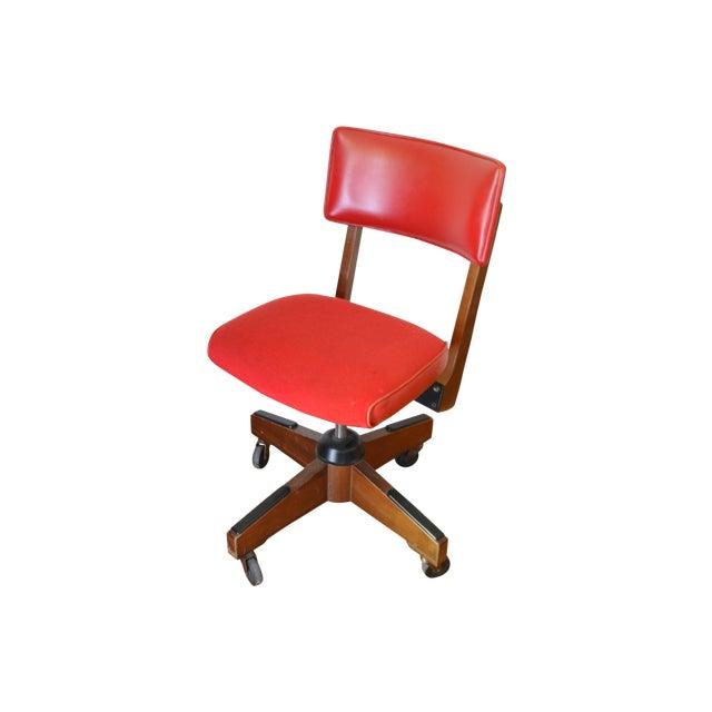 Gunlocke Red Swivel Desk Chair - Image 1 of 5