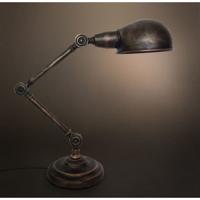 Image of Vintage Industrial Medieval Retro Table Lamp