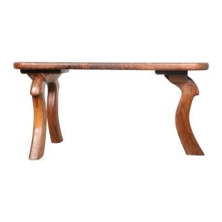 Modern Walnut Wooden Bench