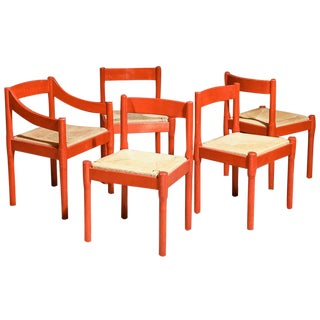 Carimate Chairs by Vico Magistretti- Set of 5
