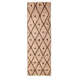 "Moroccan, Hand Knotted Runner - 2'1"" X 6'3"""