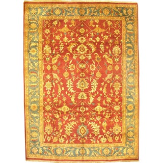 "Hand-Knotted Indo Agra Rug - 9' 11"" X 13' 10"""