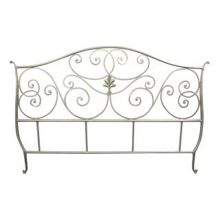 Metal Scroll Design King Size Bed