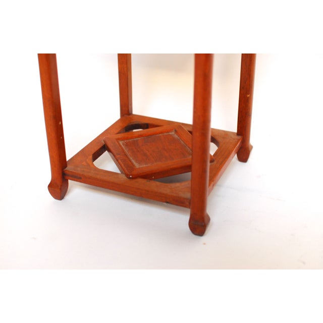 Image of Chinese Carved Hardwood Plant Stand