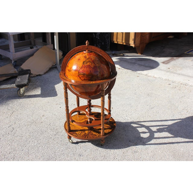 1950s French Art Deco Style Globe Bar - Image 10 of 11