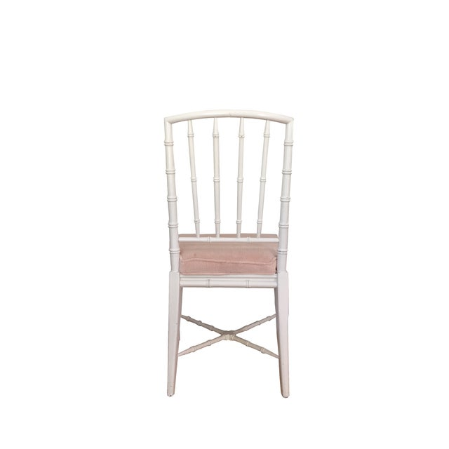 Faux Bamboo Chinese Chippendale Chairs - Set of 4 - Image 3 of 5