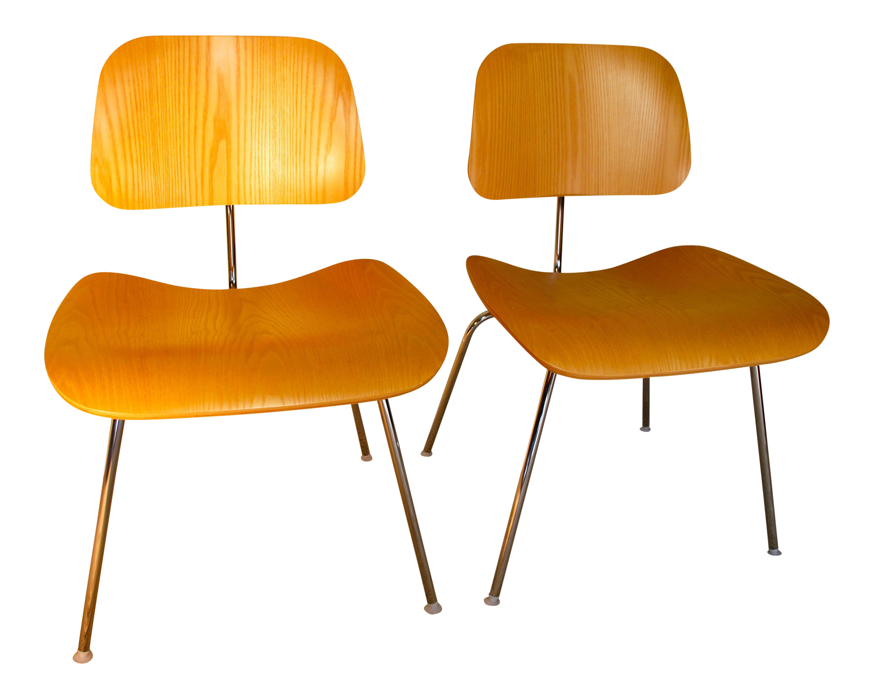 armless metal dining chairs. eames molded plywood metal base dining chairs - a pair armless n