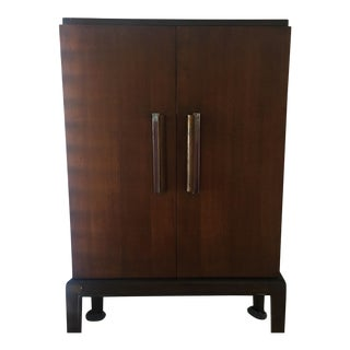 Donald Deskey 5 Shelve Wooden Cabinet