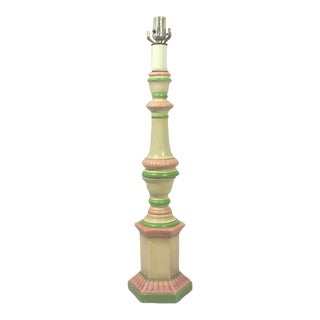Pastel Ceramic Candlestick Style Table Lamp