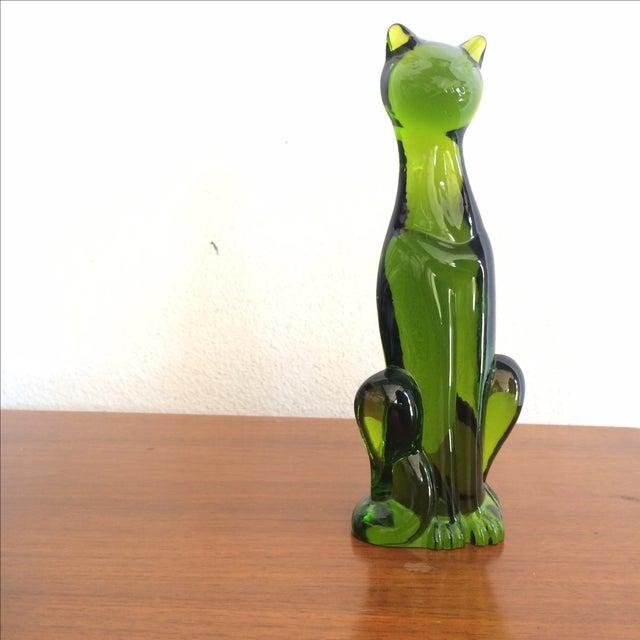 Image of Rare Green Viking Glass Cat