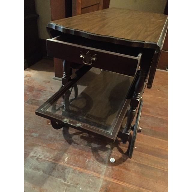 Image of Traditional Serving Cart Table