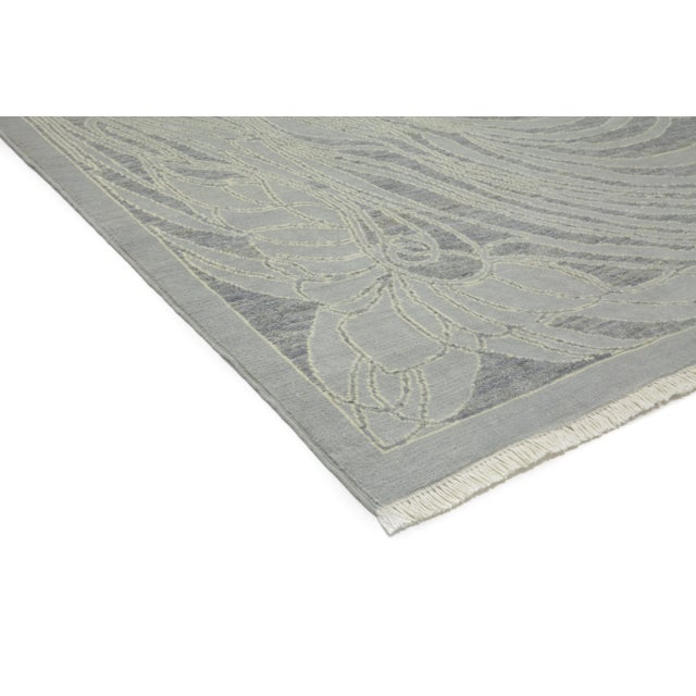 """Image of New Contemporary Hand Knotted Area Rug - 8' x 10'3"""""""