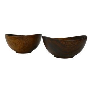 Pair of Turned Danish Rosewood Bowls