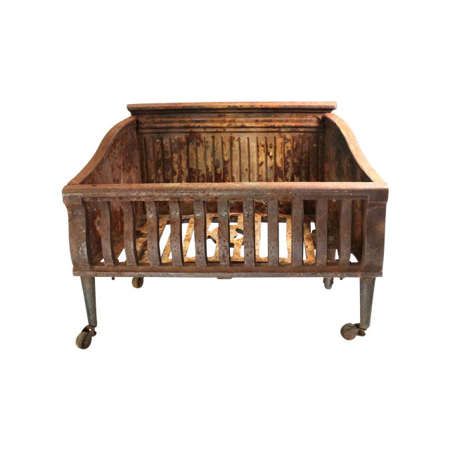 Image of 1890s Fire Grate Cast Iron Container