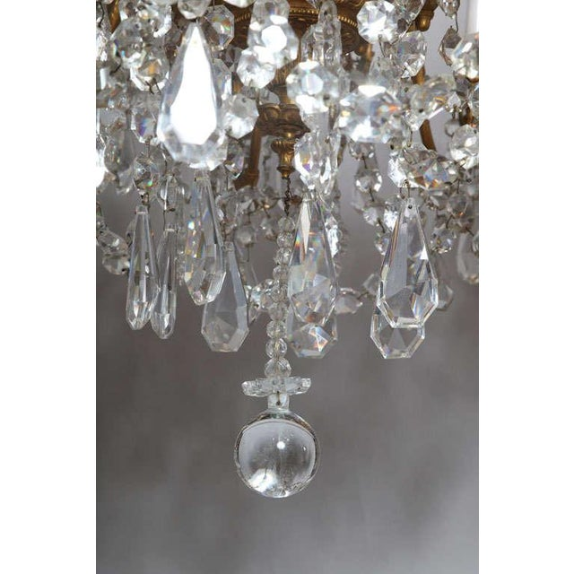 Crystal & Bronze 18-Light Chandelier from the Ritz Carlton on Palm Beach - Image 6 of 10