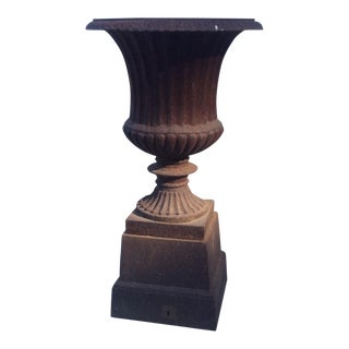 Antique Iron Garden Urn