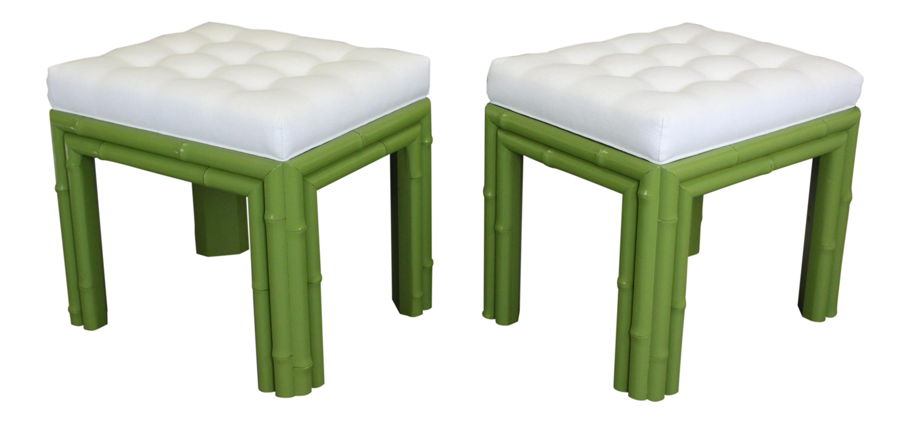 Pair of Faux Bamboo Green Benchches  sc 1 st  Chairish & Vintage u0026 Used Stools | Chairish islam-shia.org