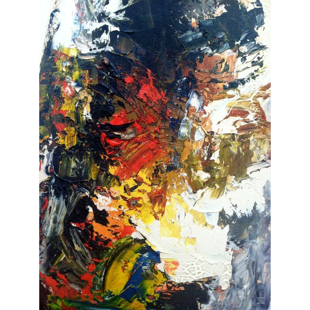 """Image of Mid Century Abstract Painting """"Work #8"""""""