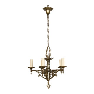 Antique Brass Tudor Chandelier