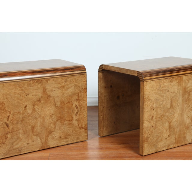 Mid Century Burlwood Nightstands - 2 - Image 8 of 9