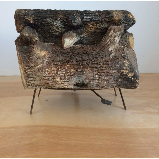 Vintage Faux Fire Log - Image 2 of 6