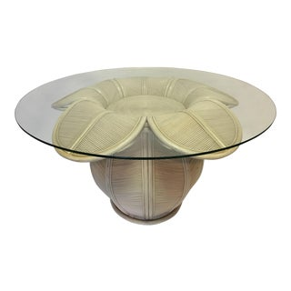 Rattan Bell Flower Dining Table