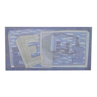 """Herbert Bayer """"tender picture E"""" Bauhaus Lithograph c.1965"""