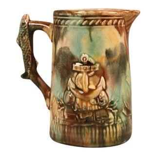 Antique English Nautical Majolica Pitcher