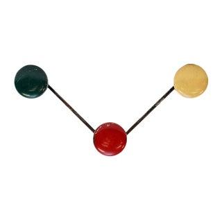 Multi Color Mid-Century Hook Rack