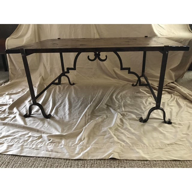 Wood & Iron Coffee Table - Image 3 of 7