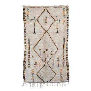 "Vintage Azilal Moroccan Berber Rug - 4'4"" X 8'2"""