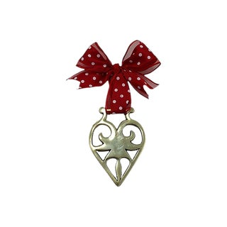 Antique English Victorian Heart Ornament