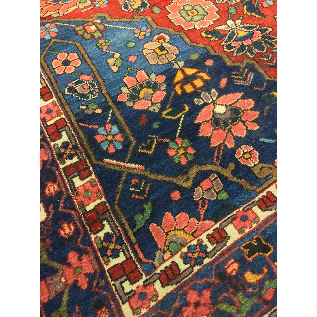 "Vintage Bellwether Rugs Persian Bactiari Area Rug - 6'9""x10'2"" - Image 10 of 11"