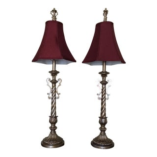 Antique Tall Table Lamps - a Pair