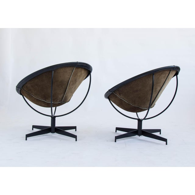 Leather Bucket Chairs by William Katavolos - Pair - Image 9 of 9