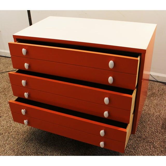 Atomic Orange Laminate Dresser - Image 8 of 11