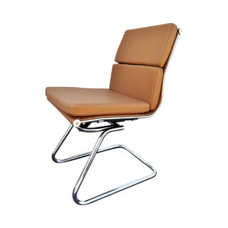 Eames Style Sled Base Lounge Chairs - A Pair