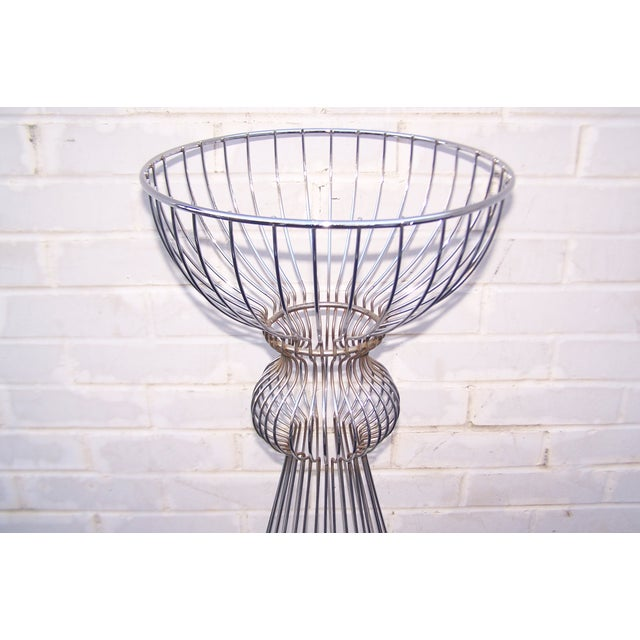 Vintage 1960s Steel Wire Sculptural Plant Stand - Image 5 of 9