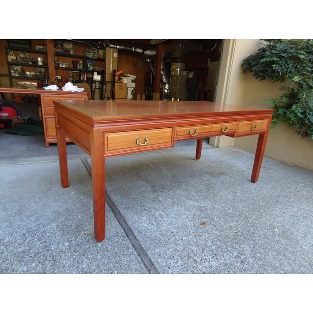 Solid Rosewood Table Desk - Image 3 of 5