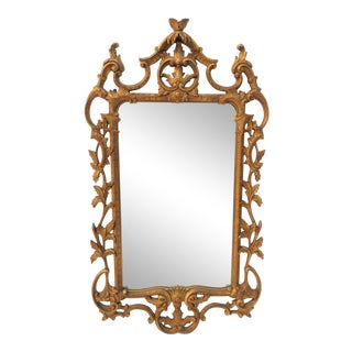 Italian Reticulated Gold Gilt Carved Mirror
