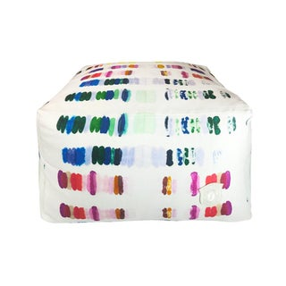 Multicolor Patterned Pouf