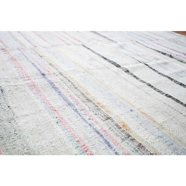 "Vintage Cotton Area Rag Rug - 7'10"" x 8'7"" - Image 4 of 9"