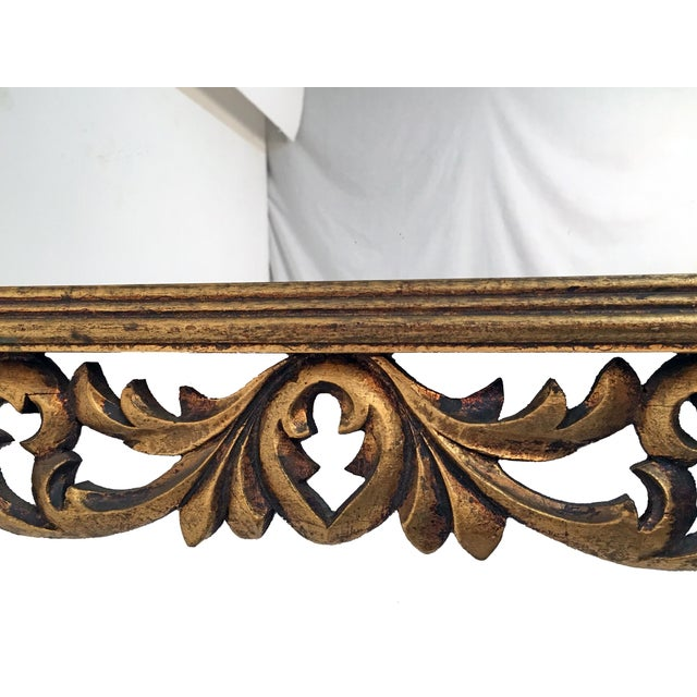 Image of Italian Carved Wood & Gilt Mirror