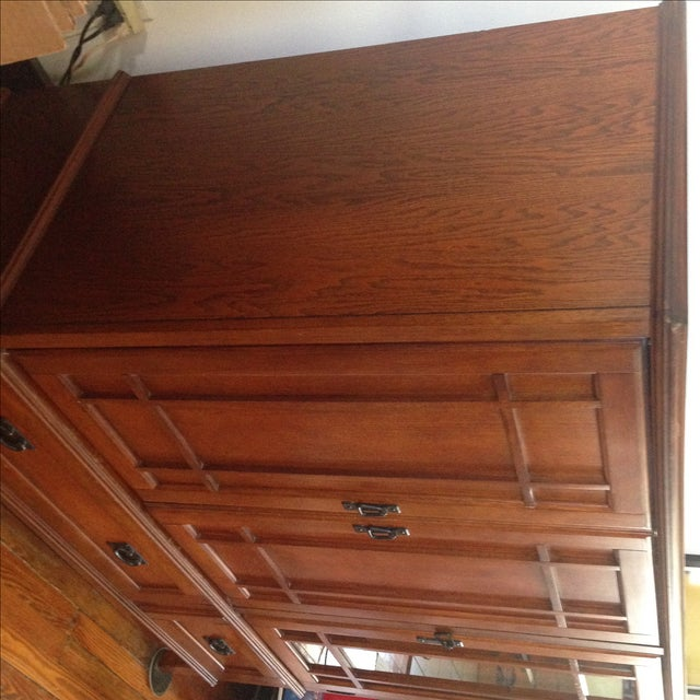 Wooden Entertainment Center - Image 4 of 6