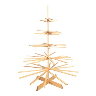 Minimalist Scandinavian Modern Eco Wood Christmas Holiday Tree