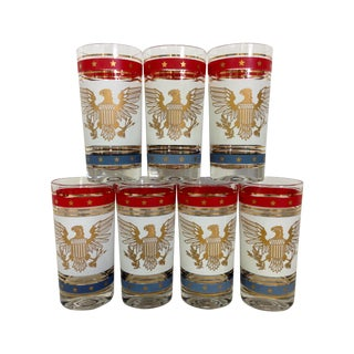 American Bald Eagle 24k Highballs - Set of 7