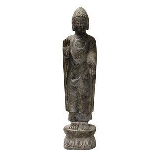 Chinese Gray Stone Buddha