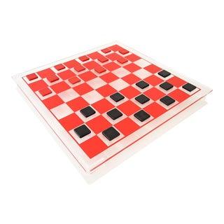 Vintage Mid Century Modern Lucite Checker Set